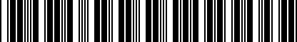 Barcode for DRG004982