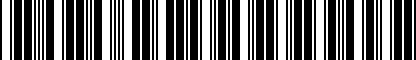 Barcode for DRG012189