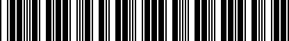 Barcode for NPN075005